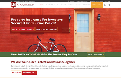 Asset Protection Insurance Agency Website Design