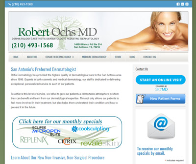 Ochs Dermatology Website Design