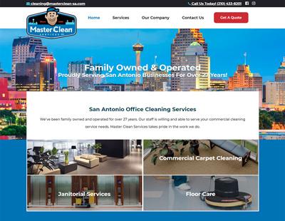 Master Clean Services website design San Antonio